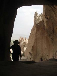silouette in cappadocia, turkey
