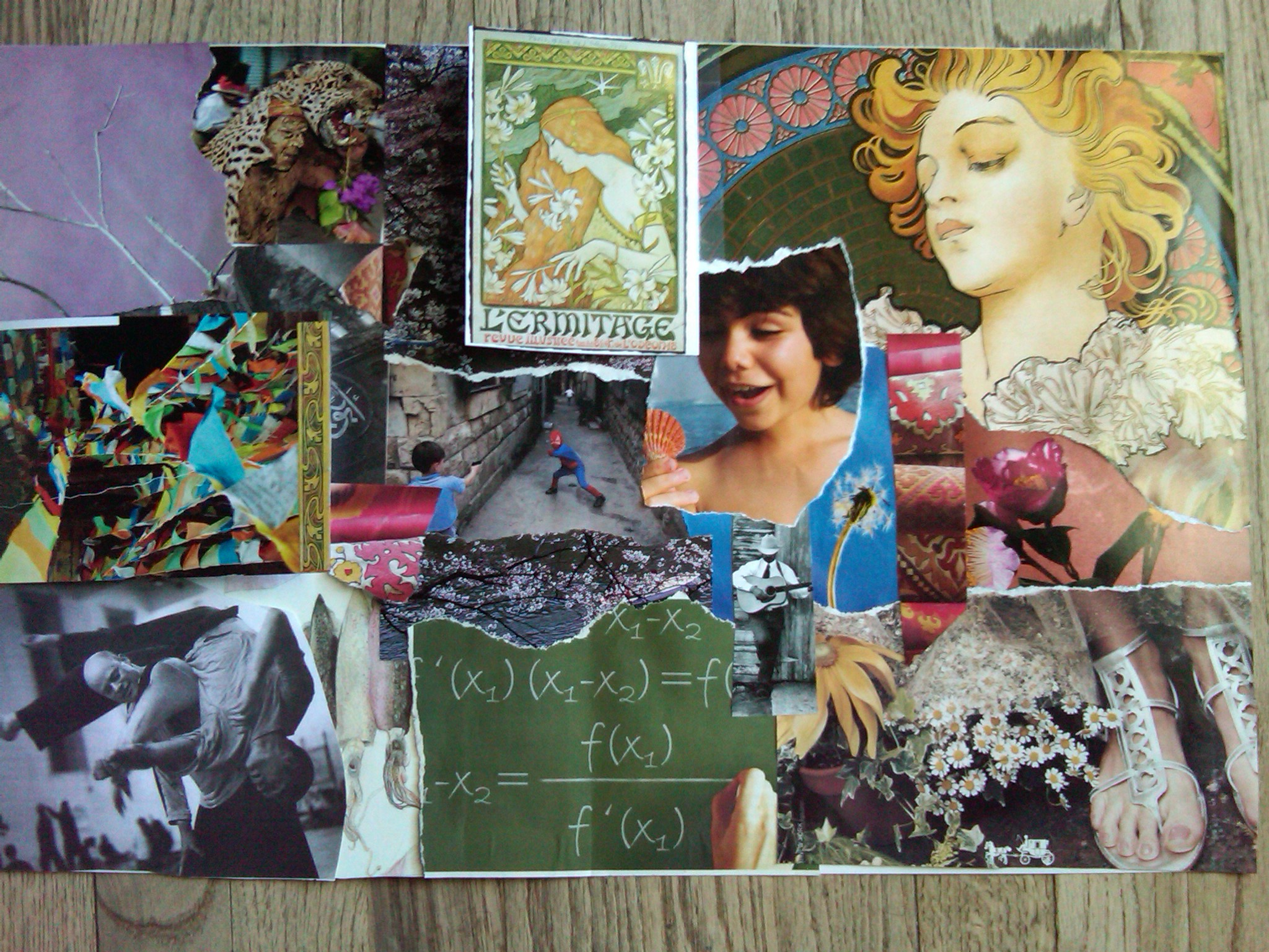 lessons from a collage: mixing your media