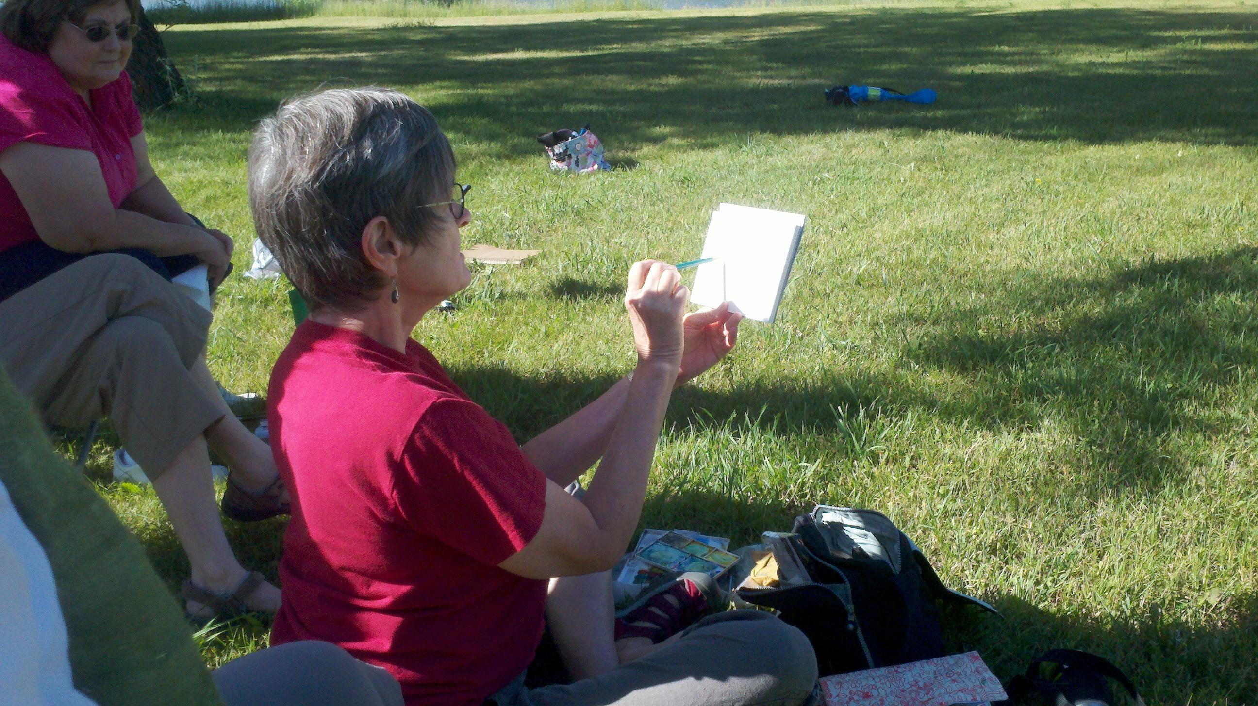 sketching & painting with Jane LaFazio in Utah